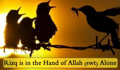 Rizq is in the Hand of Allah (swt) Alone